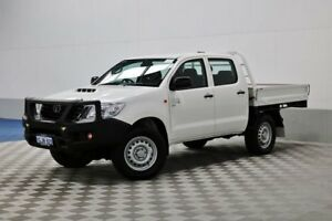 2015 Toyota Hilux KUN26R MY14 SR (4x4) White 5 Speed Automatic