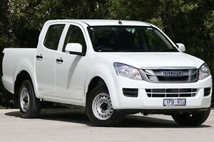 2015 Isuzu D-MAX MY15 SX Crew Cab White 5 Speed Manual Utility Ferntree Gully Knox Area Preview