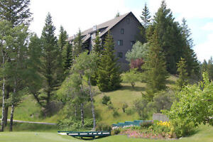 SNOWMOBILERS, SKIERS, MOUNTAIN VIEW CONDO RADIUM BC