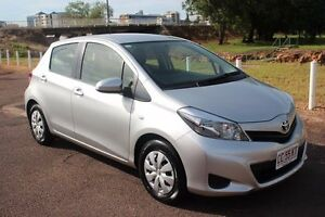 2014 Toyota Yaris NCP130R YR Silver Pearl 4 Speed Automatic Hatchback The Gardens Darwin City Preview