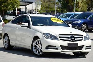 2011 Mercedes-Benz C180 C204 BlueEFFICIENCY 7G-Tronic + White 7 Speed Sports Automatic Coupe Toowong Brisbane North West Preview