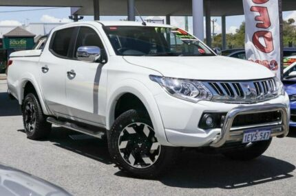 2015 Mitsubishi Triton MQ MY16 Exceed Double Cab White 5 Speed Sports Automatic Utility Osborne Park Stirling Area Preview