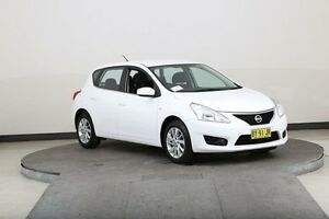 2014 Nissan Pulsar C12 ST White Continuous Variable Hatchback Smithfield Parramatta Area Preview