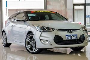 2012 Hyundai Veloster FS + Coupe Silver 6 Speed Manual Hatchback Wangara Wanneroo Area Preview