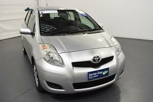 2011 Toyota Yaris NCP90R 10 Upgrade YR Silver 4 Speed Automatic Hatchback Moorabbin Kingston Area Preview