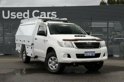 2013 Toyota Hilux KUN26R MY12 SR White 4 Speed Automatic Cab Chassis