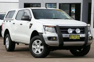 2013 Ford Ranger PX XL 2.2 (4x4) White 6 Speed Manual Crew Cab Utility Dee Why Manly Area Preview