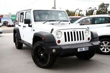 2014 Jeep Wrangler JK MY2014 Unlimited Sport White 5 Speed Automatic Softtop Frankston Frankston Area Preview