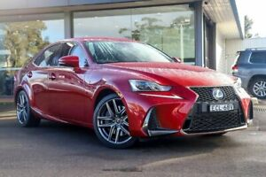 2017 Lexus IS350 GSE31R F Sport Red 8 Speed Sports Automatic Sedan Kirrawee Sutherland Area Preview