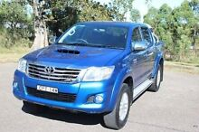 2013 Toyota Hilux KUN26R MY12 SR5 (4x4) Blue 4 Speed Automatic Dual Cab Pick-up South Maitland Maitland Area Preview