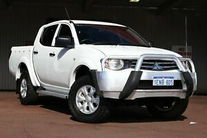 2014 Mitsubishi Triton MN MY15 GLX-R Double Cab White 5 Speed Sports Automatic Utility Northbridge Perth City Area Preview