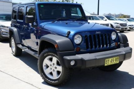 2010 Jeep Wrangler JK MY2010 Unlimited Sport Blue 6 Speed Manual Softtop