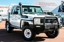 2014 Toyota Landcruiser VDJ79R MY13 Workmate Double Cab White 5 Speed Manual Cab Chassis Balcatta Stirling Area Preview