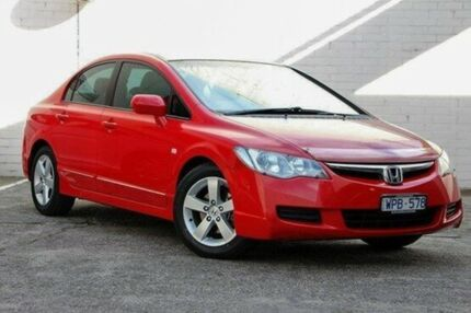 2008 Honda Civic 8th Gen MY08 VTi-L Red 5 Speed Automatic Sedan Doncaster Manningham Area Preview