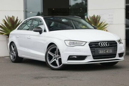 2014 Audi A3 8V MY14 Ambition S tronic quattro White 6 Speed Sports Automatic Dual Clutch Sedan Kirrawee Sutherland Area Preview