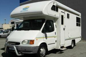 1997 Ford Transit Getaway Getaway White 5 Speed Manual Motor Home Beckenham Gosnells Area Preview