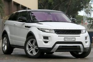 2012 Land Rover Evoque LV SD4 Dynamic White 6 Speed Automatic Coupe Petersham Marrickville Area Preview
