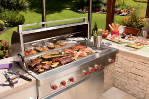"WOLF 54"" STAINLESS STEEL OUTDOOR BUILT-IN NATURAL GAS GRILL"