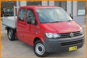 2011 Volkswagen Transporter T5 MY10 132 TDI LWB Red 7 Speed Automatic Dual Cab Chassis Blacktown Blacktown Area Preview