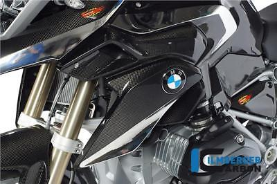 Ilmberger GLOSS Carbon Fibre Airtube Radiator Cover Set Pair BMW R1200GS LC 2014