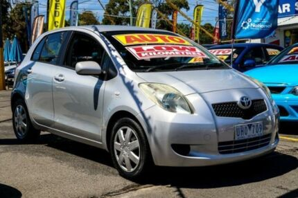 2006 Toyota Yaris NCP91R YRS Silver 4 Speed Automatic Hatchback Ringwood East Maroondah Area Preview