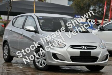 2016 Hyundai Accent RB4 MY16 Active Ironman Silver 6 Speed Constant Variable Hatchback Slacks Creek Logan Area Preview