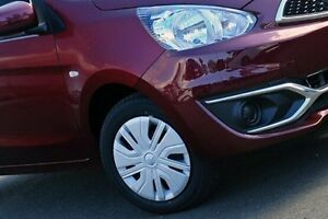 2016 Mitsubishi Mirage Red Constant Variable Hatchback Nunawading Whitehorse Area Preview