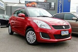2016 Suzuki Swift FZ MY15 GL Red 4 Speed Automatic Hatchback Dandenong Greater Dandenong Preview