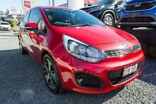 2012 Kia Rio UB MY12 SLS Signal Red 6 Speed Manual Hatchback Ormiston Redland Area Preview