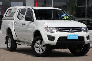 2014 Mitsubishi Triton MN MY15 GLX Double Cab White 4 Speed Sports Automatic Utility Kippa-ring Redcliffe Area Preview