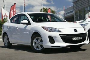 2013 Mazda 3 BL10F2 MY13 Neo White 6 Speed Manual Hatchback Gymea Sutherland Area Preview
