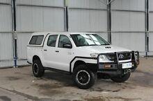 2009 Toyota Hilux KUN26R MY10 SR White 5 Speed Manual Utility Derwent Park Glenorchy Area Preview