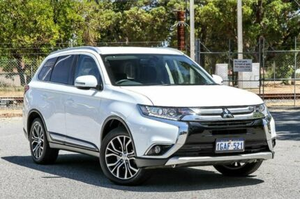 2016 Mitsubishi Outlander ZK MY16 XLS 2WD White 6 Speed Constant Variable Wagon Gosnells Gosnells Area Preview