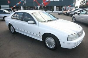 1999 Ford Fairlane AU Ghia White 4 Speed Automatic Sedan Kingsville Maribyrnong Area Preview
