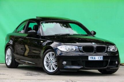 2009 BMW 125I E82 MY09 Black 6 Speed Automatic Coupe