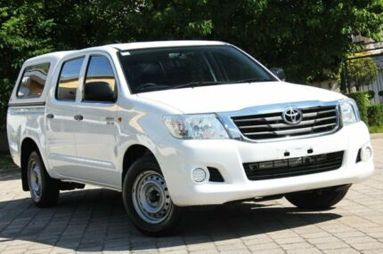 2014 Toyota Hilux GGN15R MY14 SR Double Cab White 5 Speed Automatic Utility Hawthorn Mitcham Area Preview