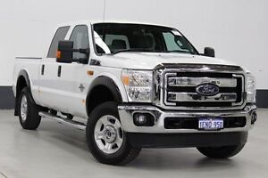 2013 Ford F250 XLT XLT Powerstroke Dual Cab White Light Truck Bentley Canning Area Preview
