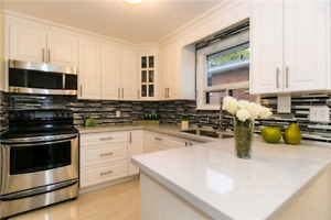 AFFORDABLE WHITE CANADIAN MADE KITCHEN CABINETS!
