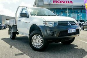 2014 Mitsubishi Triton MN MY14 Update GL White 5 Speed Manual Cab Chassis