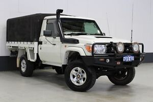 2009 Toyota Landcruiser VDJ79R 09 Upgrade GXL (4x4) White 5 Speed Manual Cab Chassis Bentley Canning Area Preview