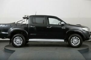 2015 Toyota Hilux KUN26R MY14 SR5 (4x4) Black 5 Speed Automatic