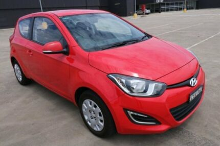 2014 Hyundai i20 PB MY14 Active Red Manual Hatchback