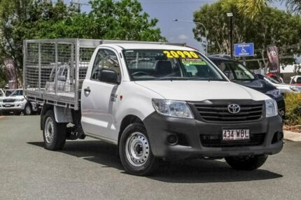 2013 Toyota Hilux TGN16R MY12 Workmate 4x2 White 4 Speed Automatic Cab Chassis Noosaville Noosa Area Preview
