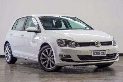 2016 Volkswagen Golf VII MY16 110TDI DSG Highline White 6 Speed Sports Automatic Dual Clutch