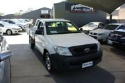 2010 Toyota Hilux TGN16R 09 Upgrade Workmate White 5 Speed Manual Cab Chassis Mitchell Gungahlin Area Preview