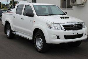 2013 Toyota Hilux KUN26R MY12 SR Double Cab White 5 Speed Manual Utility Devonport Devonport Area Preview