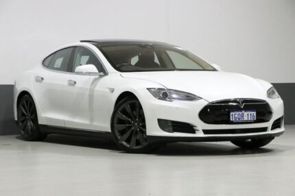 2015 Tesla Model S 70D Pearl White 1 Speed Automatic Hatchback Bentley Canning Area Preview