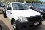 2005 Toyota Hilux KUN26R MY05 SR White 5 Speed Manual Cab Chassis Underwood Logan Area Preview