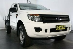 2014 Ford Ranger PX XL 4x2 Hi-Rider White 6 Speed Sports Automatic Cab Chassis Maryville Newcastle Area Preview