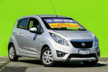 2012 Holden Barina Spark MJ MY12 CD Silver 5 Speed Manual Hatchback Ringwood East Maroondah Area Preview